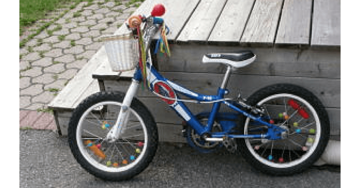 Image of a kid's bike