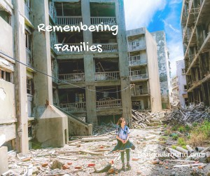 Image of a child among bombed out buildings