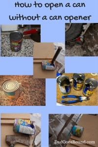 Image of a variety of tools used to open a can