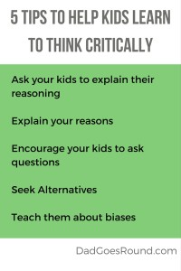 5 tips to help kids learn to think critically