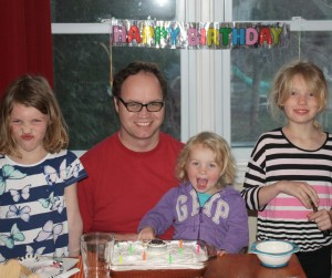 Image of birthday boy dad with kids. Now I am 41