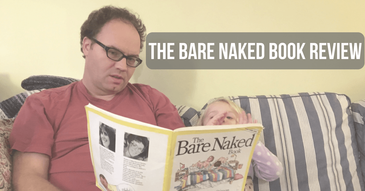 Image of a father reading the bare naked book to his daughter