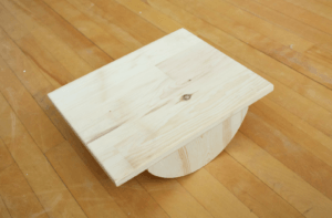 Image of a wooden Balance Board