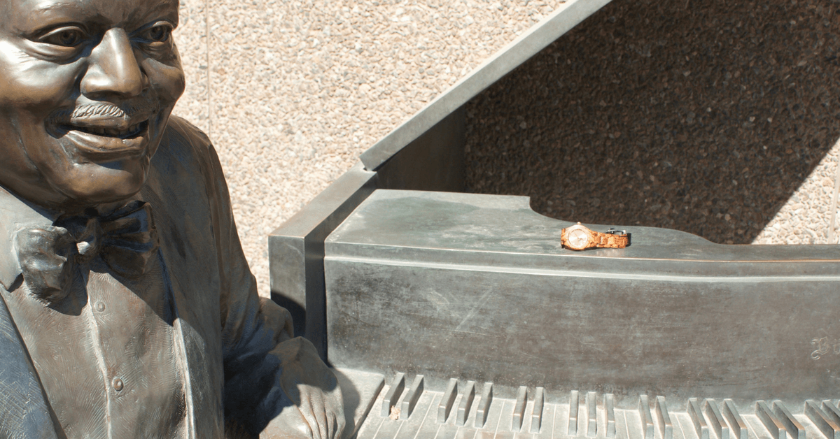 Oscar Peterson statue and Jord Wood Watch