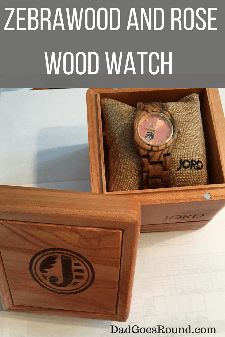 Zebrawood and Rose wood woman's watch